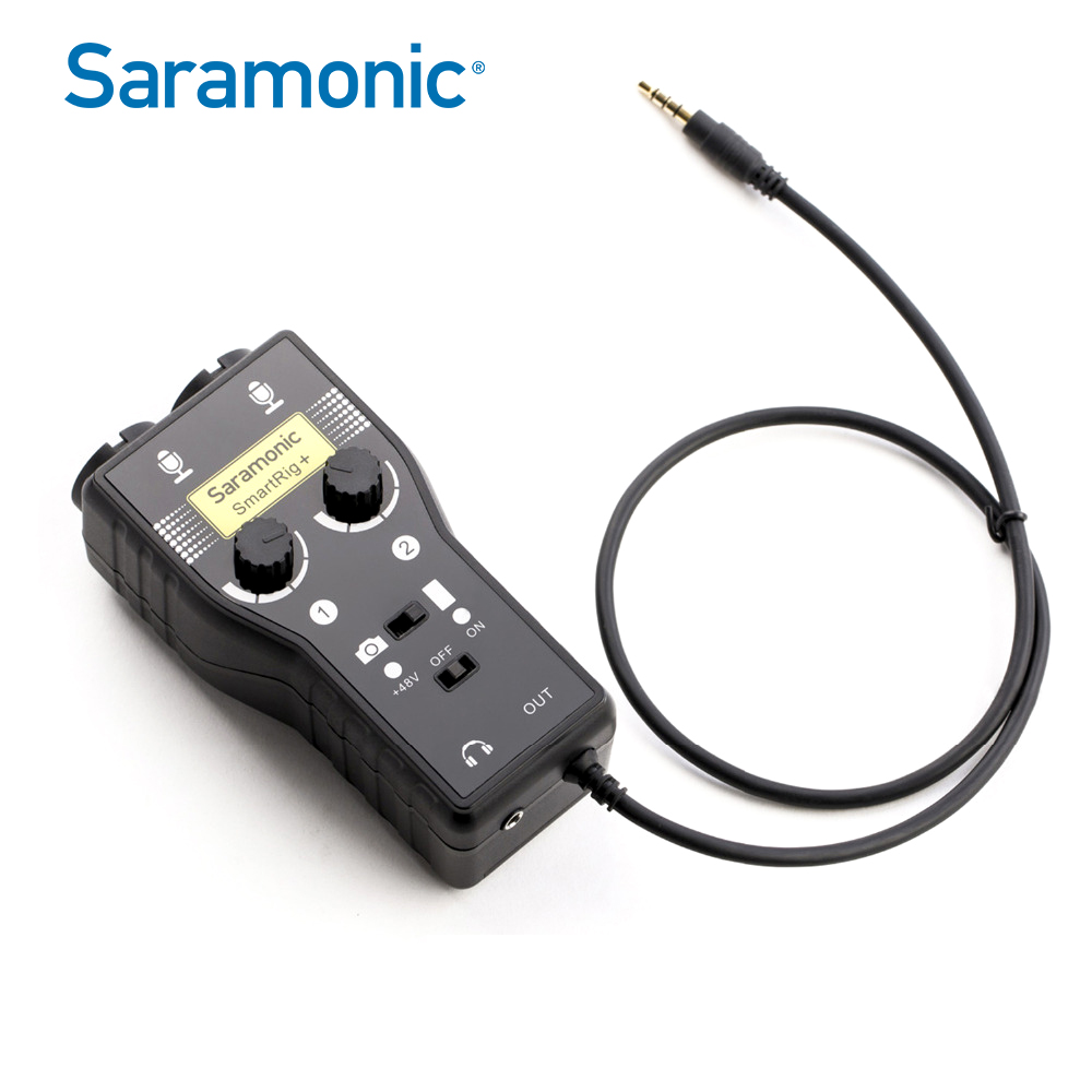 Saramonic Smartrig + XLR Mikropon Preamplifier Audio Adapter Mixer Preamp & Antara Muka Gitar untuk DSLR Camera iPhone 7 7s 6 iPad