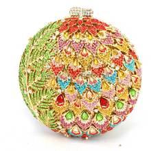 Heiße Art Neue Bankett Tag Kupplungen Luxus-seitig Voller Diamanten Abendtasche Hochzeit Handtasche Umhängetasche Q41