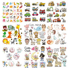 Hot DIY Dier Patches Set Kleding Stickers Warmteoverdracht Badpak Parches Wasbare Warmte Pers Geappliceerd Badges Iron-on Transfer(China)