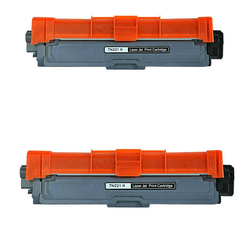2 PCS Black toner TN225 TN221 TN245 TN241 TN-296 T-N291 Toner Cartridge Compatible for Brother HL-3140 CW/3150CDW/CDN/