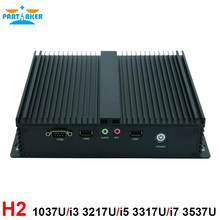 Intel Celeron 1037U i3 3217U i5 3317u i7 3537U Low Power Rugged Industrial PC Fanless Mini PC with 6*RS232 COM HDMI VGA