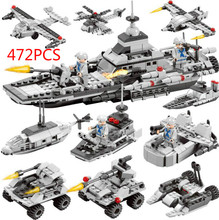 472pcs Building Blocks military Special Forces Soldiers Compatible All City Bricks Toys For Children Truck Helicopter
