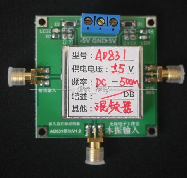 AD831 Misturador Ativo Módulo 500 M Largura de Banda Suporta a Mistura de Baixa Distorção up & down logarítmica detector detector de energia