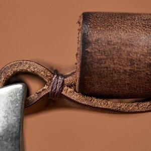 Image 5 - MEDYLA erkekler kemer alaşım Pin toka gelişmiş deri kemer kot rahat orijinal dana kemer gençlik kemer el yapımı MD567