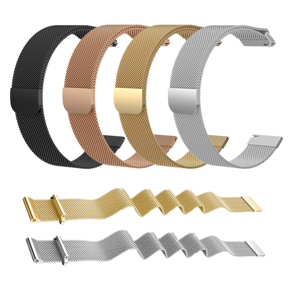 20mm 22mm Stainless Steel Metal Bracelet Milanese Loop Strap For Xiaomi Amazfit Bip/Pace/Stratos 2 Smart Watch Band For Samsung
