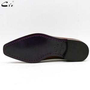 Image 5 - Cie ساحة تو كامل قطع مفصل مخصص حذاء مصنوع يدويا كامل الحبوب العجل الجلود مكتب حذاء رجالي أكسفورد حذاء اللون البني OX08