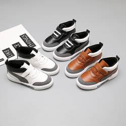 2018 новая осенне-зимняя детская спортивная бархатная обувь, теплая хлопковая обувь для мальчиков, 22-31 размер