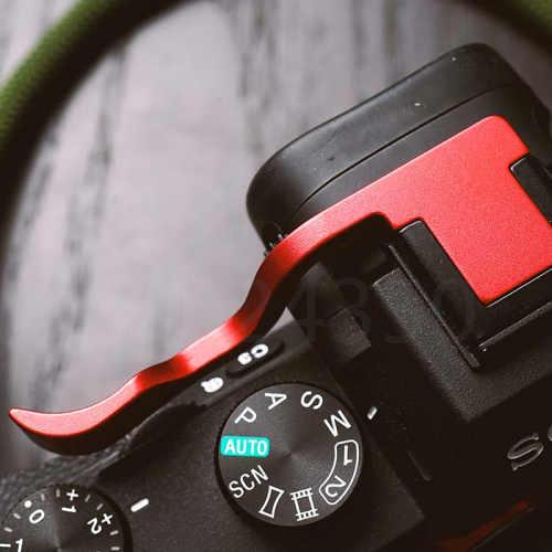 """Зеркальный Фотоаппарат Новый большой палец защитная накладка Крышка для внешней вспышки типа """"Горячий башмак для sony A9 A7R3 A7RIII ILCE-7RM3 A7R Mark III Красный черный, серебристый цвет рукоятки"""