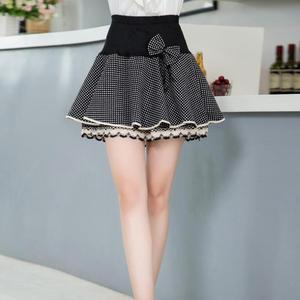 Image 5 - Женская юбка пачка с цветочным принтом Zuolunouba, мини юбка с бантом, эластичные кружевные шорты с высокой талией, большие размеры, лето 2018