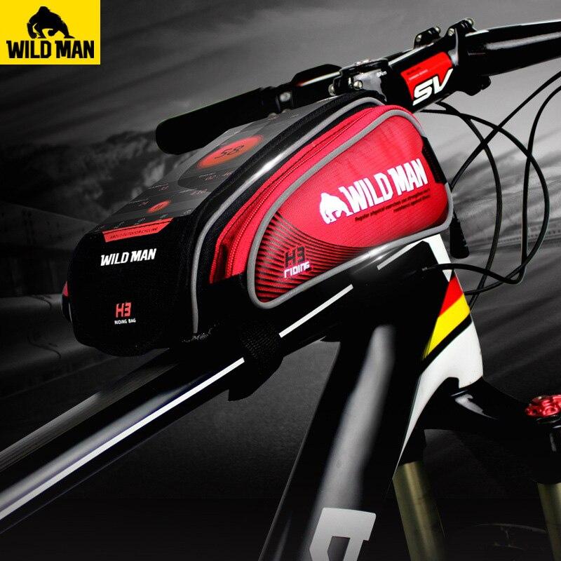 SAUVAGE HOMME VTT Route Vélo Sac Étanche Écran Tactile 4.7 6.2 Téléphone Cas Top Vélo Avant Tube Cadre Sac vélo Accessoires dans Sacs de vélos et sacoches de Sports et loisirs