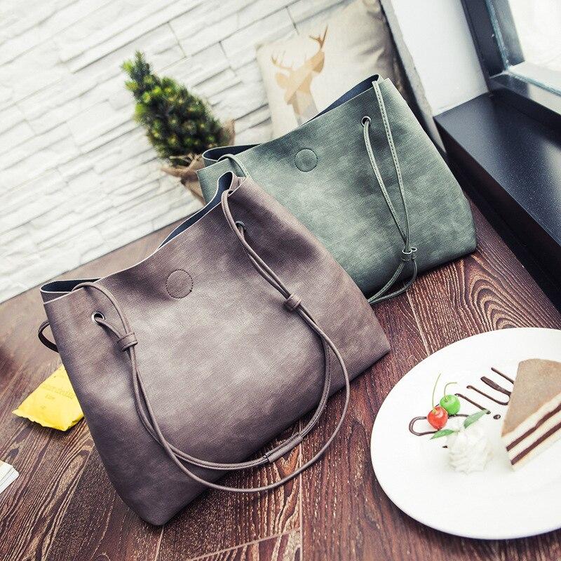 Frauen Umhängetasche Verbund Messenger Bags geldbörsen und Handtasche Mochila Leder Handtaschen sac ein haupt Feminina Bolsas