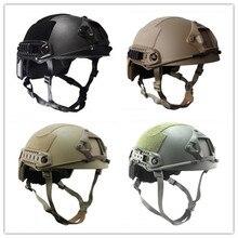 Nowych mężczyzna Na Zewnątrz NIJ IIIA Kevlar Kuloodporne Kask Polowanie Tactical Airsoft Fast Ballistic Helmet Czarny Tan Zielony Kaski Biegów