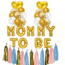 цена Mommy To Be Blue Pink Confetti Balloons Baby Shower Foil Balloon Its A Boy Girl Gender Reveal Babyshower Party Supplies SHINY в интернет-магазинах