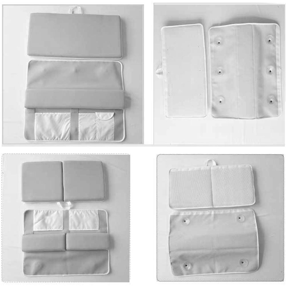 Bath Kneeler Safety Grey Washable Cushion Baby Comfortable Thick Pad Mat Support Elbow Rest Strength Suction Non Slip
