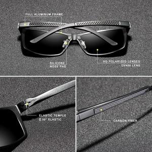 Image 3 - KINGSEVEN Brand Design Fashion Aluminum Magnesium Sunglasses Men Polarized Driving Eyewear For Men UV400 Oculos N7021