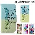 Para samsung galaxy j5 prime case ranura para tarjeta del tirón del cuero para samsung j7 2016 case cubierta del soporte del teléfono carpeta de la manera Coque