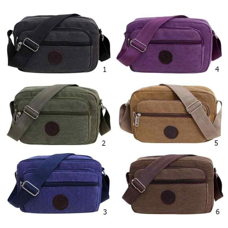 Saco de lona dos homens 2019 multifunction casual viagem sacos crossbody vintage sólido zíper mensageiro sacos sac a principal bloso