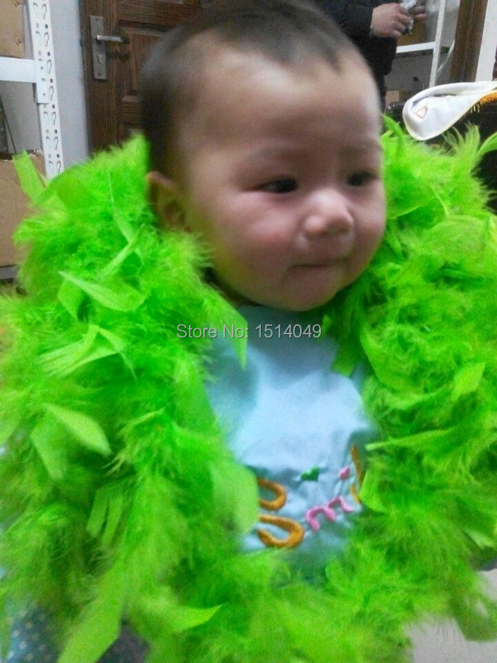 Free shipping wholesale 5pcs high quality Turkey feathers 2m long Feather boa Decorative green