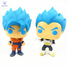 NEW 10cm Dragon ball super saiyan god goku vegeta action figure Bobble Head Q Edition new