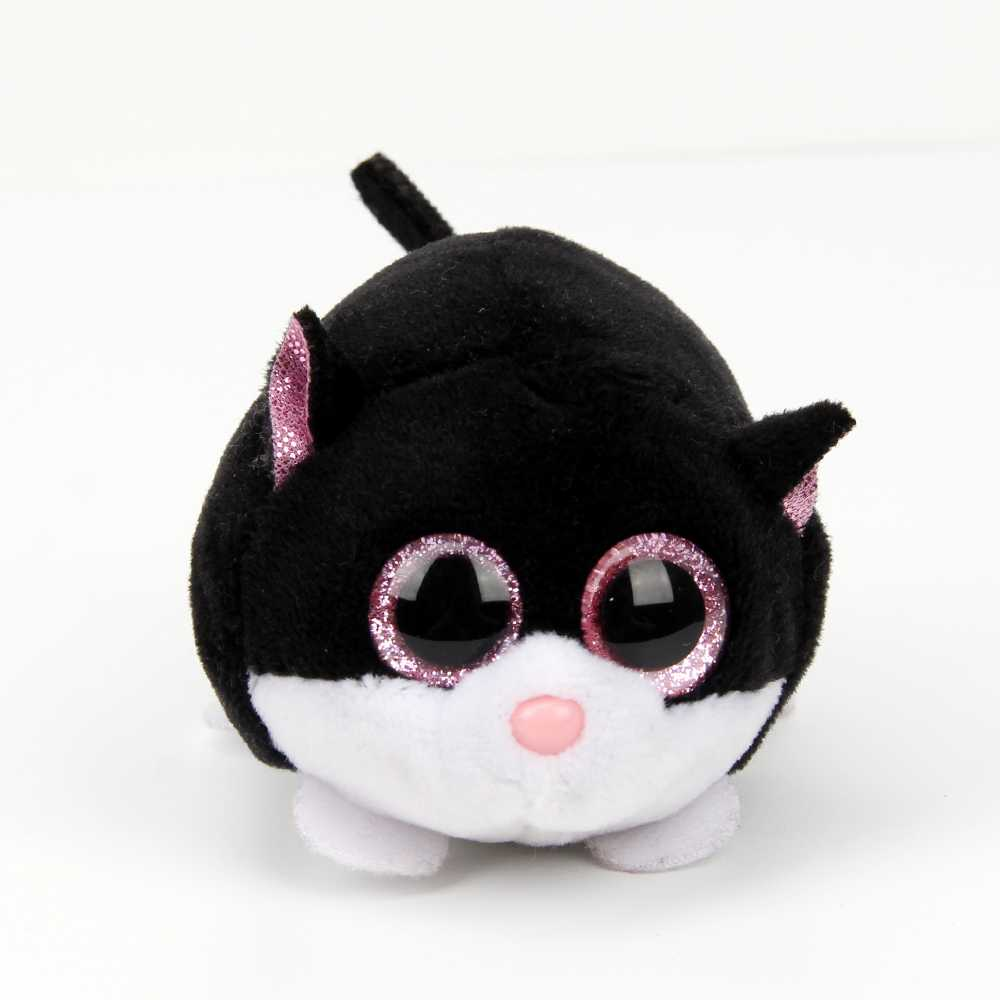10cm kawaii Original Ty Beanie Boos Big Eyes Plush Toy Doll Black Cat toys for children halloween baby toys ty collection beanie boos kids plush toys big eyes slick brown fox lovely children gifts kawaii stuffed animals dolls cute toys