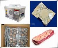 Бесплатная доставка пищевой вакуумный упаковщик, вакуумная упаковка машина вакуумной камере, алюминиевые мешки пищевой рис чай вакуум зап