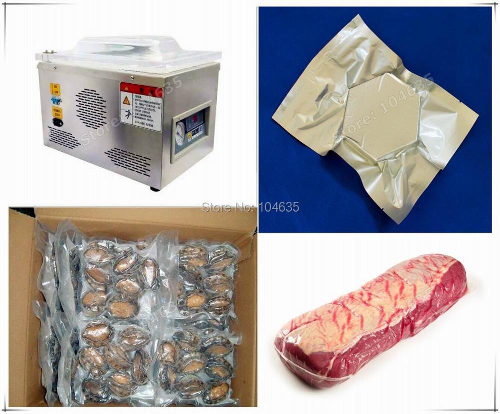 Livraison gratuite scellant sous vide alimentaire, machine à emballer sous vide chambre à vide, sacs en aluminium alimentaire riz thé machine à sceller sous vide CE