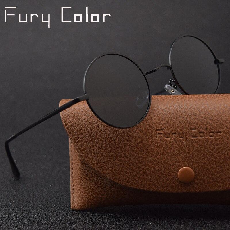 Classique rétro Steampunk gothique petit rond lunettes de soleil polarisées hommes femmes petit Vintage John Lennon lunettes de soleil gafas de sol