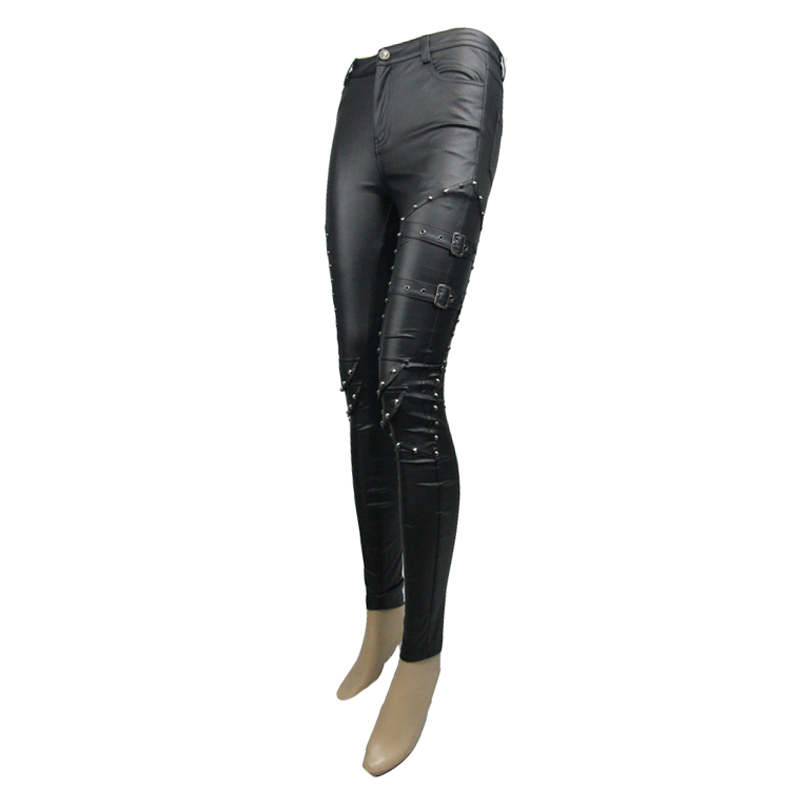 Резиновые латексные колготки короткие брюки латексные черные леггинсы для женщин (без молнии) - 5