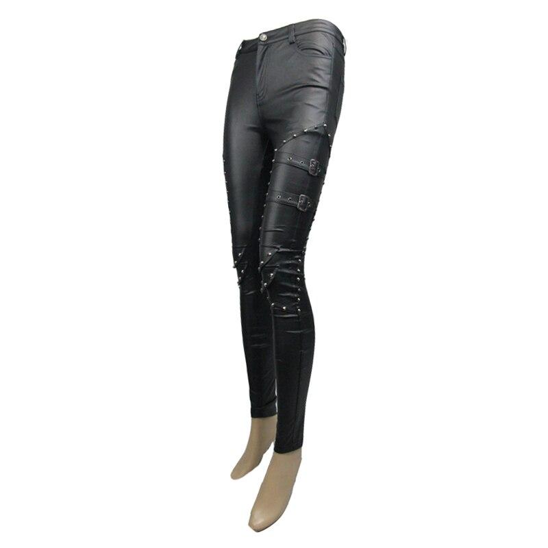 Décoré Cuir Femmes Sexy Leggings Steampunk Noir Pantalon De Pu Rivers Diable Pt056 Mode qIBwv1I6