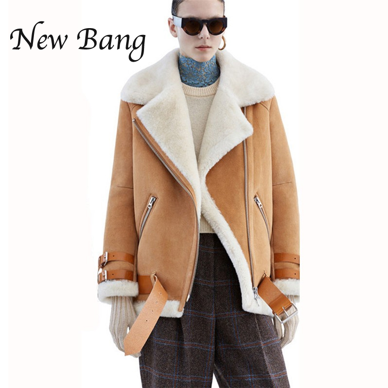 Faux Shearling Coats - Coat Nj