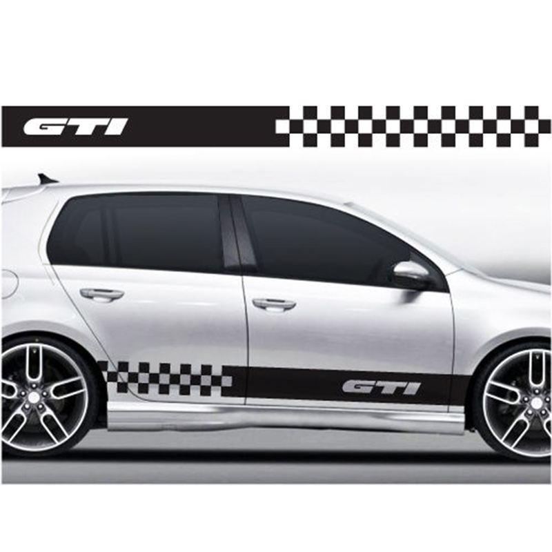 YONGXUN For  VW Volkswagen Golf Scirocco Polo racing stripes stickers decals 009 Car Styling DA-00y2 yongxun for alfa romeo bonnet racing stripes graphics stickers decals mito 147 156 159 166 giulietta spider gt da 892