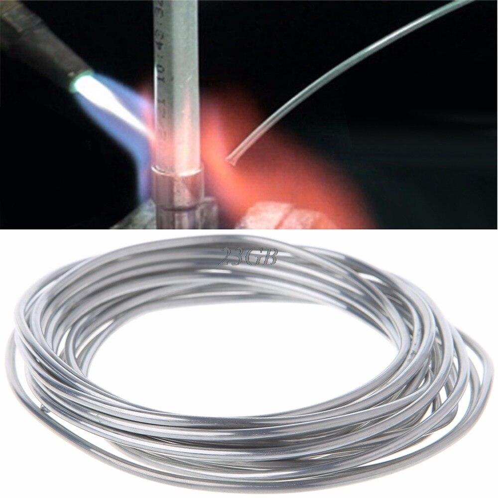 2mm * 3 metro de aluminio de cobre alambre tubular de baja temperatura aluminio varilla de soldadura M25