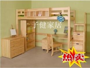 Nieuwe aanbieding goedkope grenen bed hout bed combinatie bed