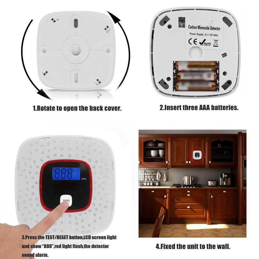 Lcd Co Carbon Monoxide Gas Alarm Sensor Poisoning Smoke Tester Detector Monitor Tool Ijs998 Jade White Back To Search Resultssecurity & Protection