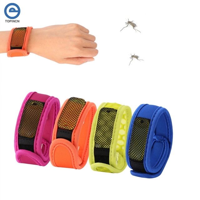 Summer Mosquito Repellent Bracelet With 4 Refill Pellets Band Outdoor Insect Wrist