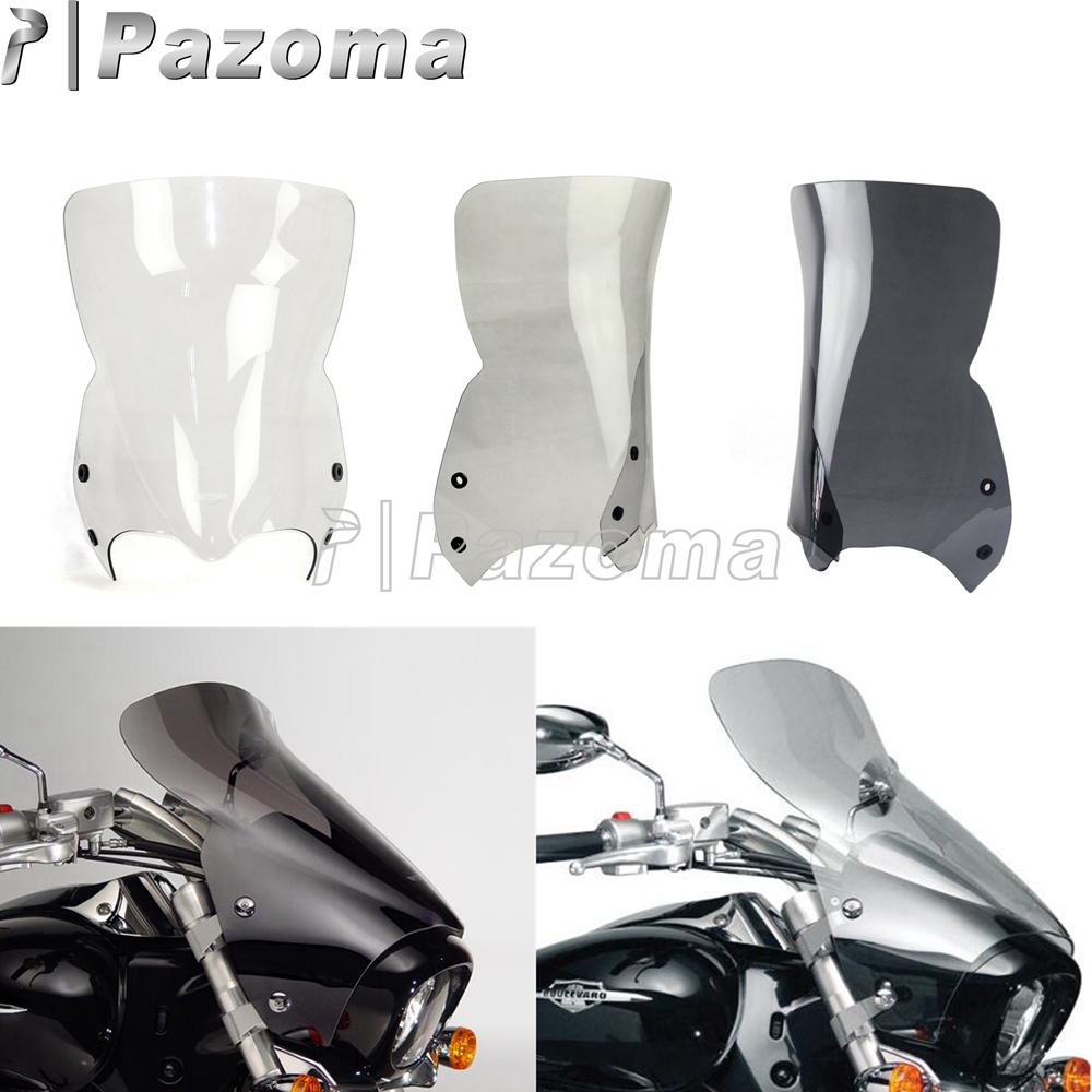 Motorbike Windscreens Windshield Deflectors Clear Smoke Black For Suzuki Boulevard M109R M50 M90 2006 2016
