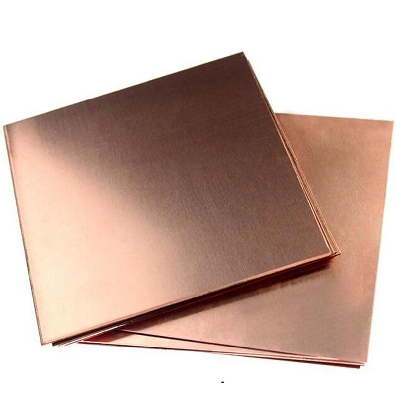 1mm 2mm 3mm 99.9% Copper Sheet Plate Pure Copper Cu Metal 50*50mm
