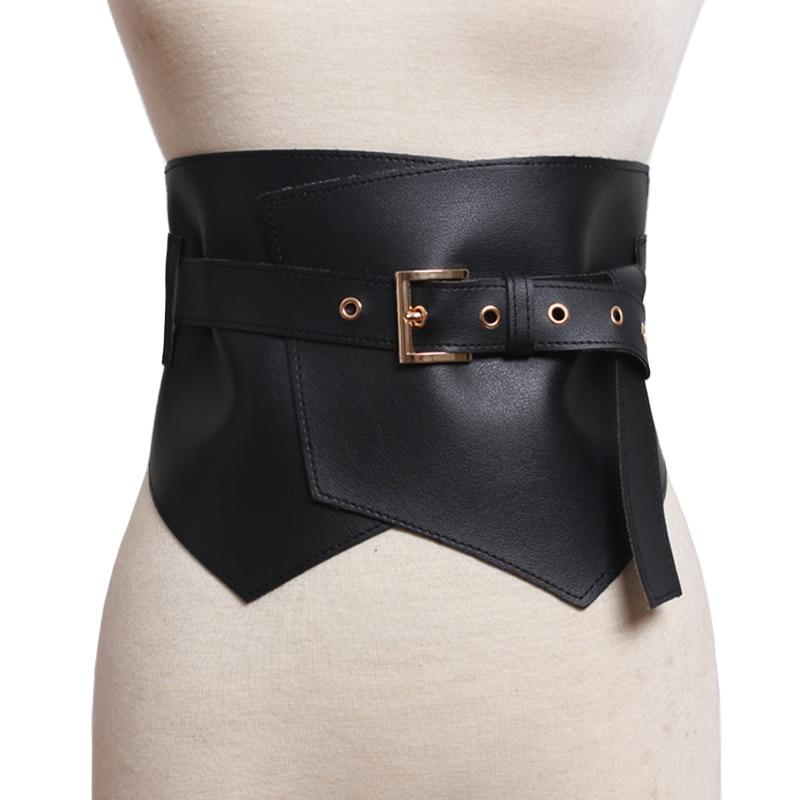 nouvelle arrivee d6826 f9b64 € 11.48 16% de réduction|Femmes ceinture en cuir de luxe large boucle en  métal Design ceintures pour femmes taille élastique rose Crocodile motif ...