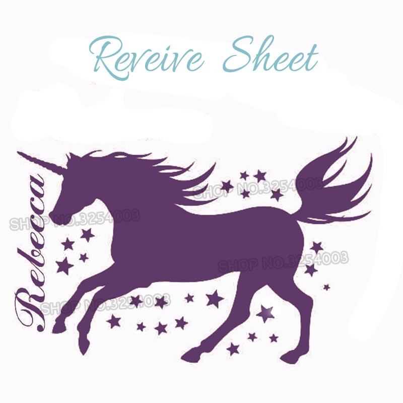 Diy Unicorn Wall Decal Personalized Girl Name Vinyl