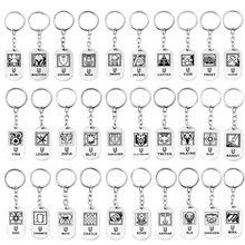 цены New Game Rainbow Six 6 Siege Key Chains Men Women Skull Metal Keychain Male Anime Key Ring Holder Porte Clef Gift Jewelry