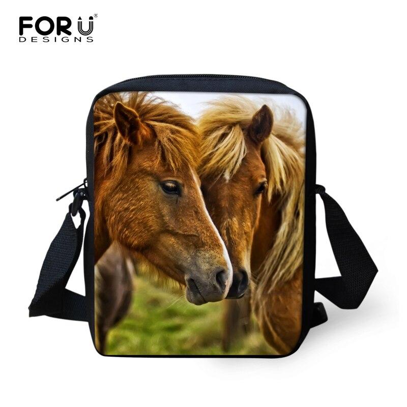 Маленькие дети сумка школы животное лошадь Малыш Детский Школьный Сумка Обувь для девоче ...
