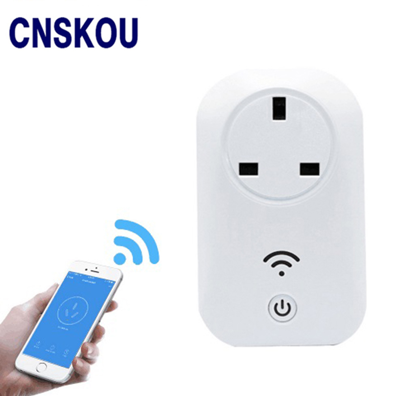 Cnskou British Standard 13A Timer Wireless Wifi Phone App Control Smart Wall Power Plug Portable Socket Outlet british mk british unit power supply socket metal 13a power outlet british standard unit socket