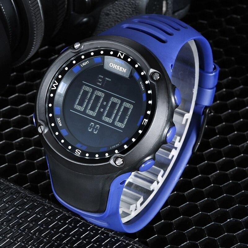 NIEUWE OHSEN Mannen Sport Horloge Alarm Datum Dag Stopwatch LED - Herenhorloges - Foto 2