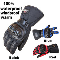 Motorcycle Gloves Top Guantes Winter Warm 100 Waterproof Windproof Protective Gloves Full Finger Motocross Glove QX2