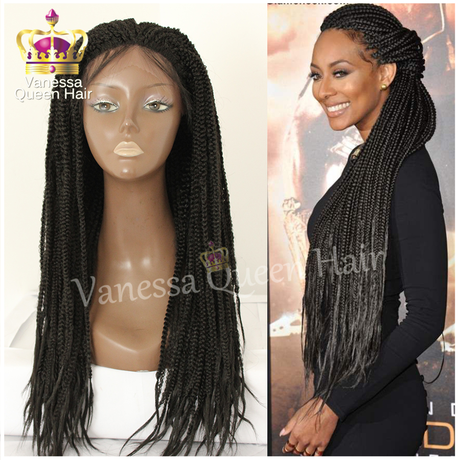 Brazilian Hair Braid Lace Front Wig Box Braiding Wig With