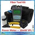 Fibra Kit de ferramentas multímetro ( 10 mw VFL Laser medidor ) e SKL-6C e fibra cutelo fibra óptica Strippers