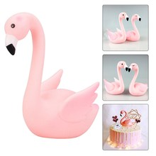 Birthday Cake Topper Wedding Pink Flamingo Decoration Party Supplies Home Cake Decorating Tools Weeding Cake Topper Love(China)