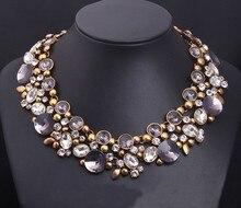 2017 Fashion Chunky Collar Choker Statement Vintage Jewelry Luxury Crystal Necklaces Pendants Jewelry Women New Design