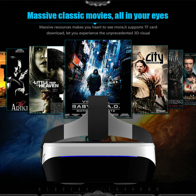 VR Box 3.0 Pro Glasses 46 for PC HMD-518 3D Private Mobile Cinema Theater 80 Inch 640*360 8G ROM High Resolution Double Lens 4