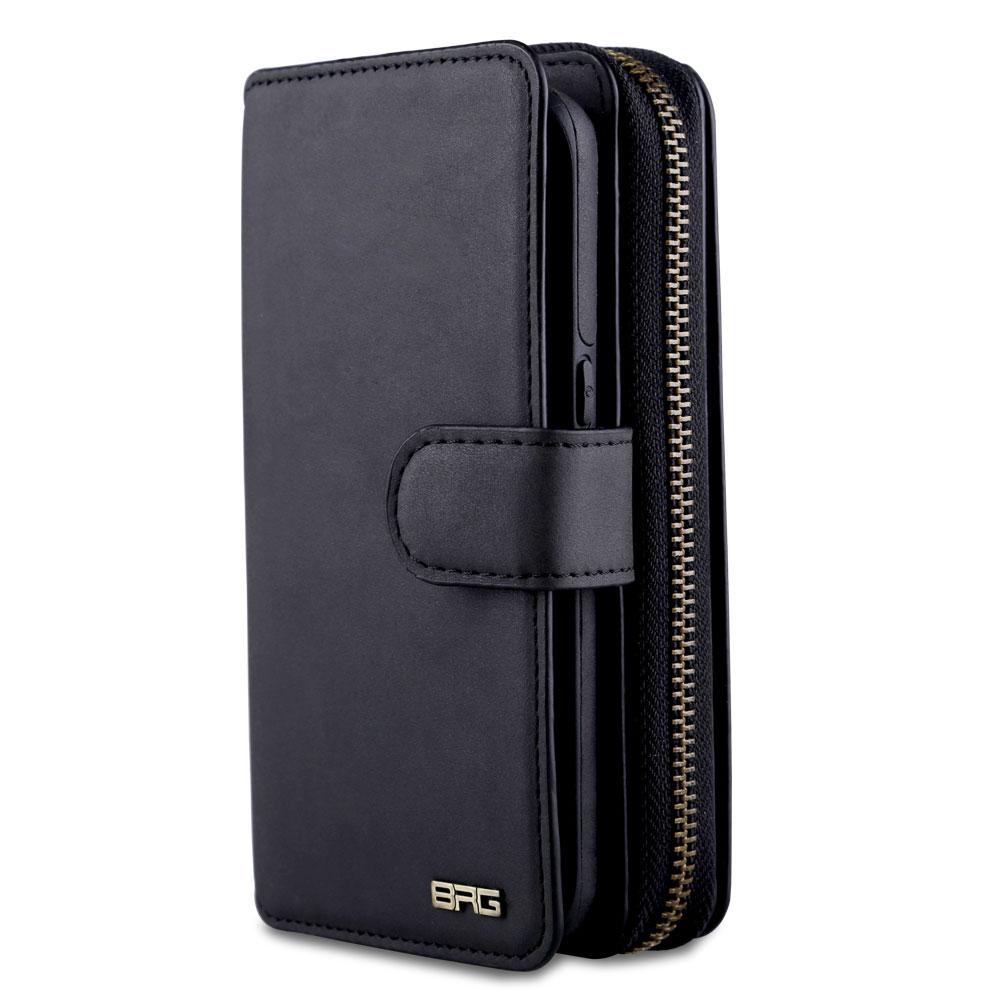 imágenes para Para samsung galaxy s8 lujo mujeres de negocios hombre de cuero ranura de la tarjeta wallet casos de la cubierta para samsung galaxy s8 plus cremallera bolsa de teléfono